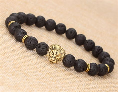 mens gold bead bracelet 2016 sell s lava volcano buddha bead