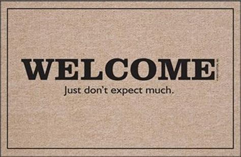 funny welcome mats welcome home funny quotes quotesgram