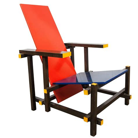 gerrit rietveld red blue chair by cassina italy 1980 for sale at 1stdibs