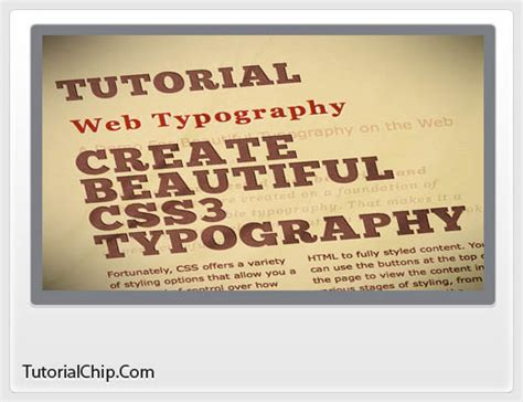 css3 typography 25 essential css3 tutorials and techniques designers should tutorialchip