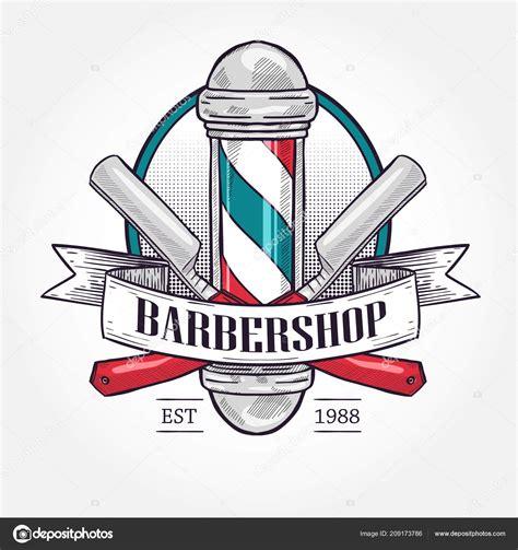 colors barber shop color barbershop logo stock vector 169 netkoff 209173786