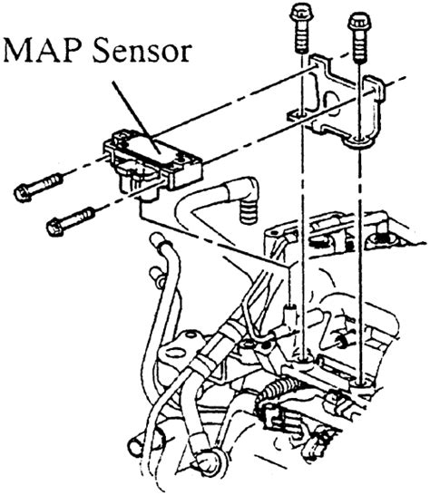 where is the map sensor on my 2000 nissan frontier 2 4l 4 cyl engine repair guides components systems manifold absolute pressure sensor autozone com