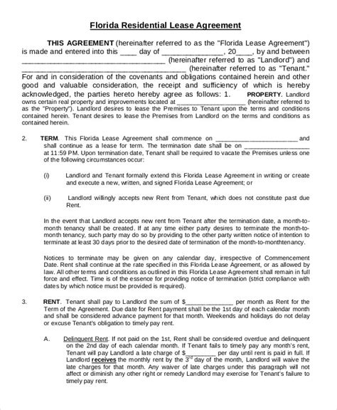 residential property lease agreement template printable residential lease agreement 9 free word pdf