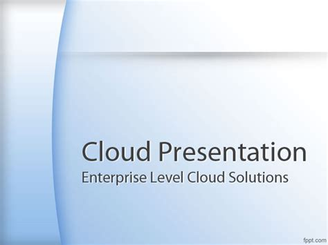 free powerpoint presentation template best cloud computing powerpoint templates