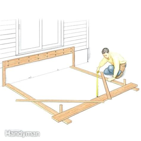 freestanding deck plans salmaun me freestanding deck plans how to build a deck ground level
