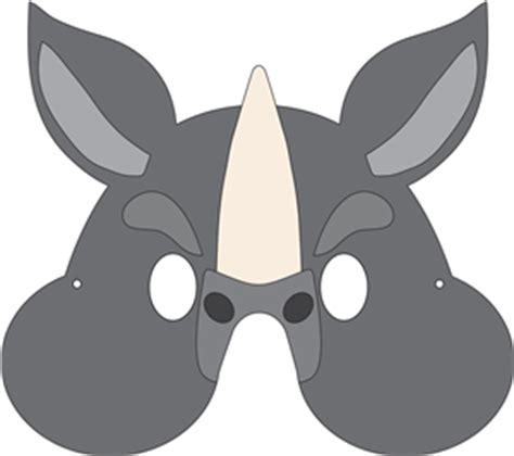 printable rhino mask silhouette online store rhino mask mask pinterest