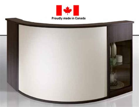 Camellia Curved Reception Desk Salon Furniture Toronto Reception Desk Canada