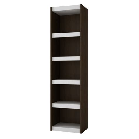 manhattan comfort serra 1 0 white 5 shelf bookcase manhattan comfort parana 2 0 series 5 shelf bookcase in