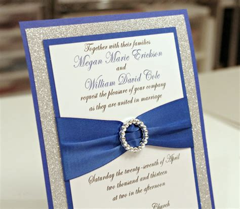 blue and silver wedding invitation ideas top compilation of royal blue and silver wedding