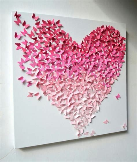Paper Craft Hearts - butterfly paper paper cutting