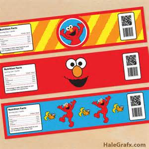 Sesame Templates Free by Free Printable Elmo Sesame Water Bottle Labels