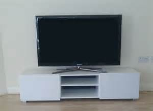 White Tv Cabinet With Doors Large 2 Door Tv Cabinet White White High Gloss Ebay