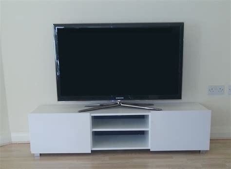 large 2 door tv cabinet white white high gloss ebay