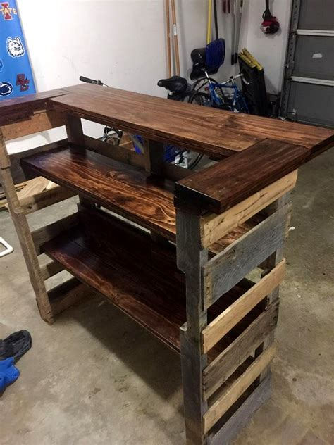Diy Kitchen Island Table pallet bar step by step instructions