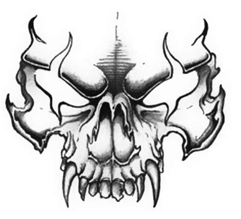 evil skull tattoos evil skull drawings quot quot design