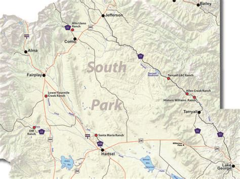 fly fishing colorado map area map of south park colorado fly fishing