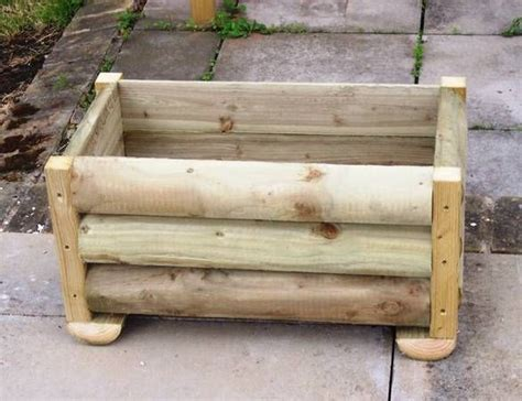 Log Planter Boxes by Crafts Log Planter Boxes