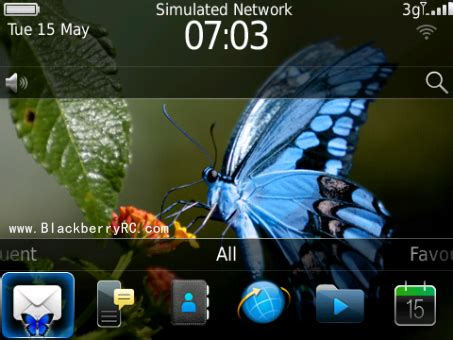 Gamis Bold Butterfly Elblue blue butterfly blackberry theme free blackberry themes