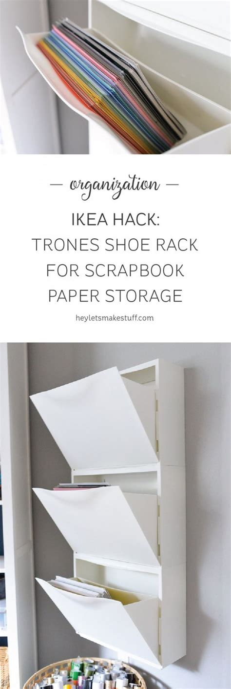 Ikea Craft Paper - ikea hack trones shoe holder for paper storage