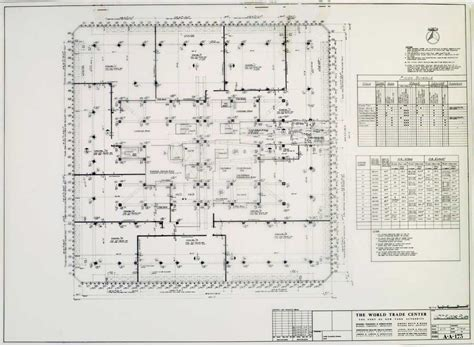 wtc floor plan world trade center architectural drawings new york e