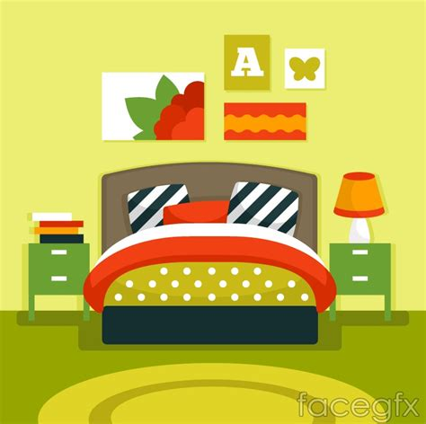 Bedroom Clipart Vector Bedroom Vector Illustration Free