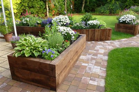 Raised Beds Railway Sleepers by Raised Beds From New Eco Pine Railway Sleepers