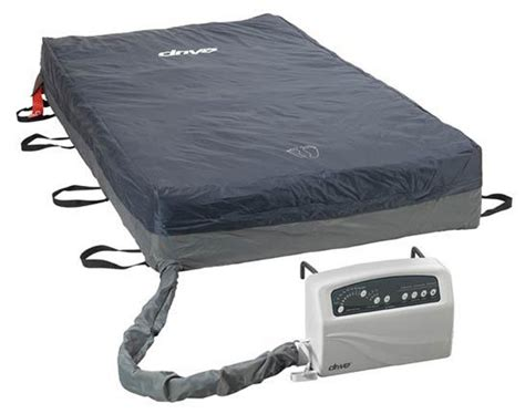 med aire plus bariatric alternating pressure low air loss mattress system 54 x 80 x 10 14054