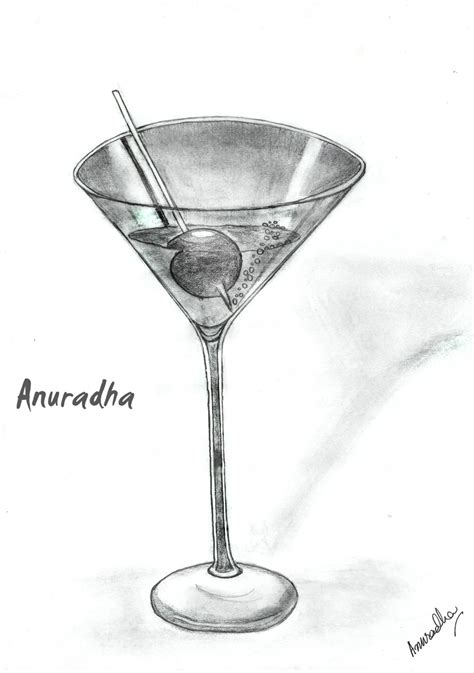 martini drawing martini glass by southsiren on deviantart