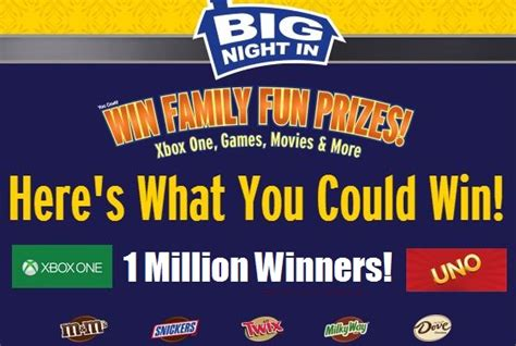 Text Instant Win Games - mars big night in instant win game