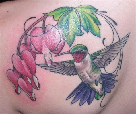 hummingbird heart tattoos bleeding and hummingbird