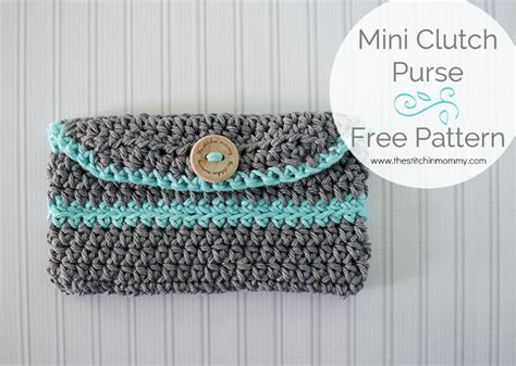 clutch purse templates crochet mini clutch purse free pattern the stitchin