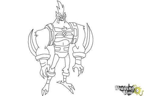 coloring pages kickin it how to draw kickin hawk from ben 10 omniverse drawingnow