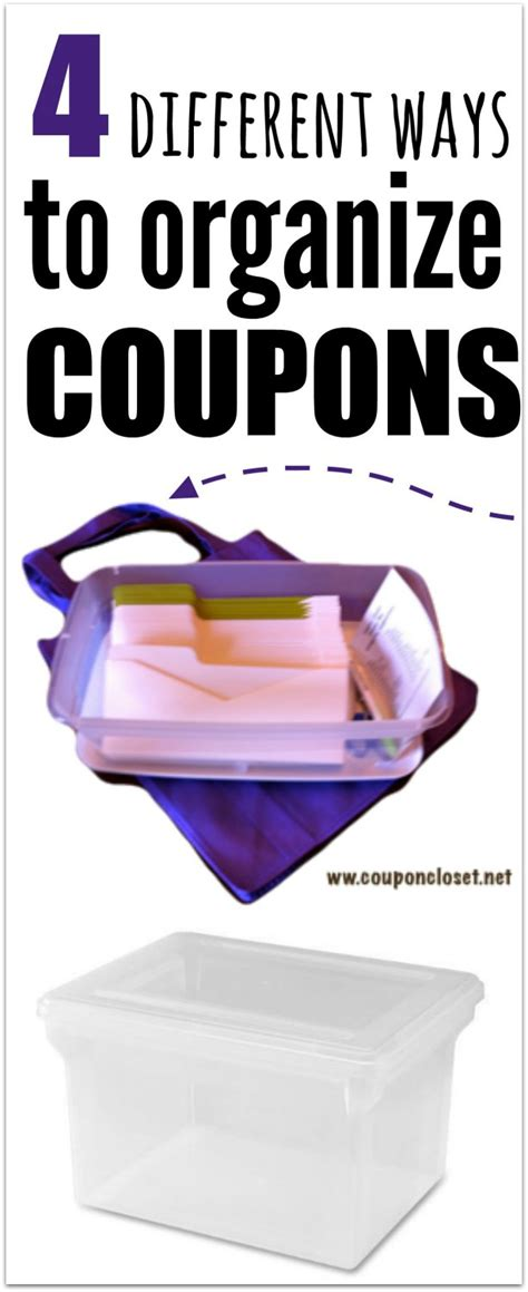 how to organize coupons 4 easy ways coupon closet