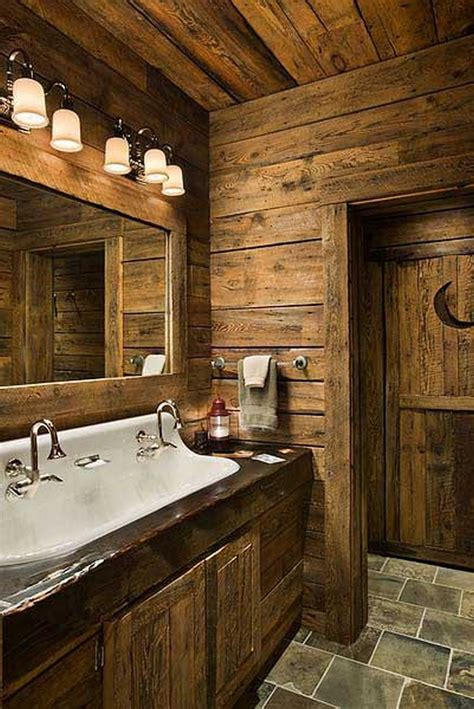 cabin bathroom ideas rustic bathrooms the owner builder network