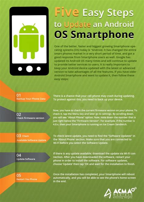 what is the new android update steps to upgrade an version android os into new version mytechlogy