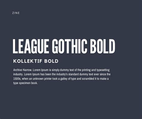 canva font pairing league gothic bold kollektif bold