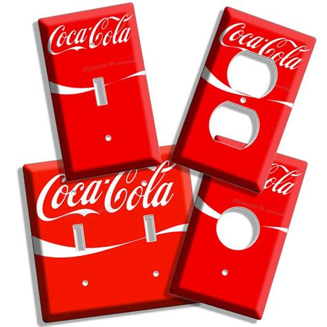 red coke white wave coca cola light switch outlet wall