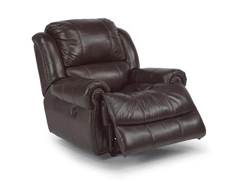 leather power recliner chairs flexsteel living room leather power recliner 1311 50p