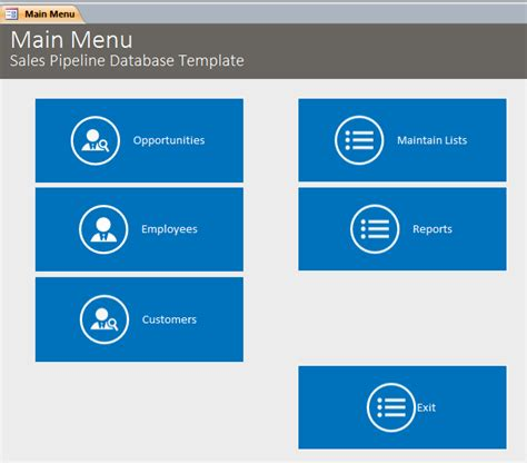 sales database template microsoft access sales pipeline database template