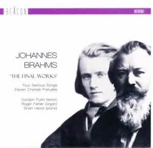 wandle sonne the late works of johannes brahms roger fisher