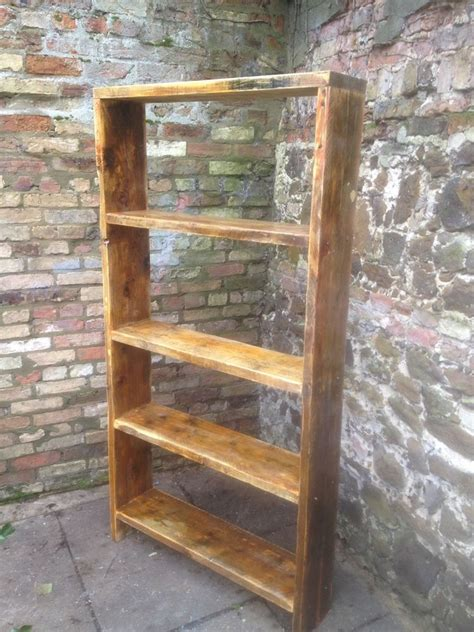 Diy Industrial Bookcase 6ft Tall Reclaimed Rustic Scaffold Display Shelving Unit