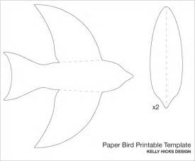birds templates printable 5 best images of birds flying cutouts printable paper