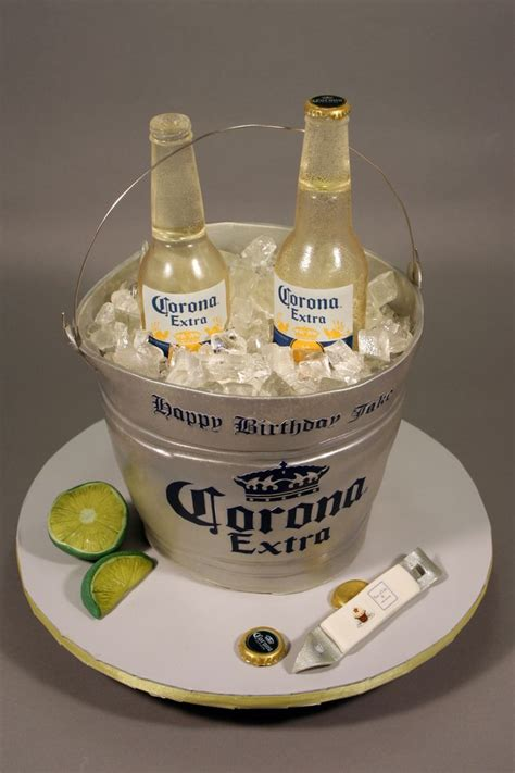 corona beer bottle bucket birthday cake decorated  fondant gumpaste modeling chocolate