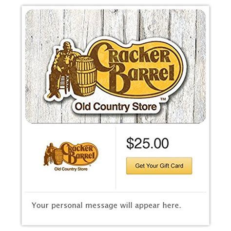 Cracker Barrell Gift Card - awardwiki cracker barrel gift cards e mail delivery