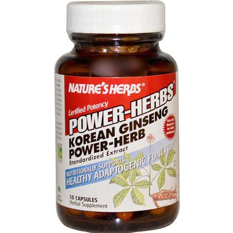 Ginseng Korea nature s herbs power herbs korean ginseng power herb 50 capsules iherb