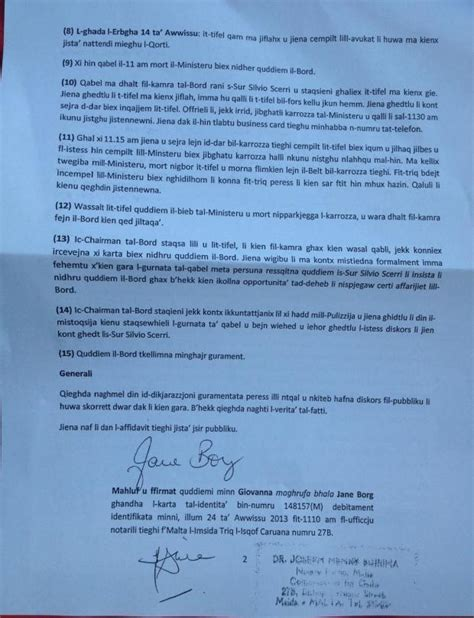 Resignation Letter Malta Update 2 Azzopardi Demands Chief Of Staff S Resignation As Of Wrongly Accused