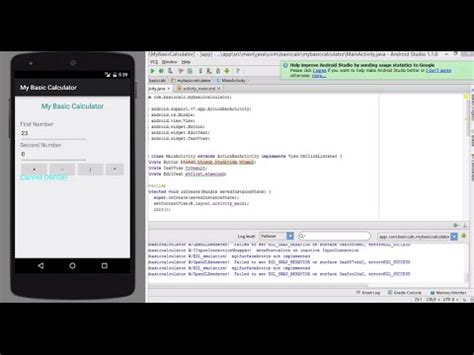 android studio tutorial kalkulator membuat kalkulator menggunakan android studio nadia yelly y