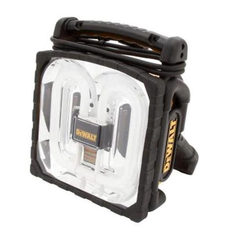 battery powered fluorescent work light dewalt 38 watt fluorescent cordless corded work light