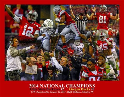 Ohio State NCAA Football National Champions Buckeyes Champs 11x14 Art CHOICES   eBay