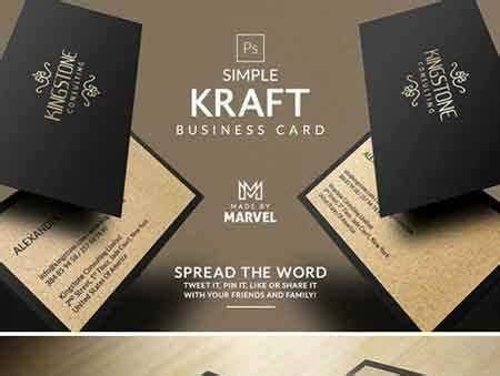 lightroom business card template freepsdvn com 1706272 template simple kraft business card